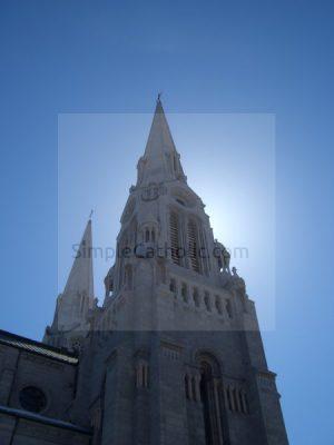 Church Exterior (Back lit) - Simple Catholic