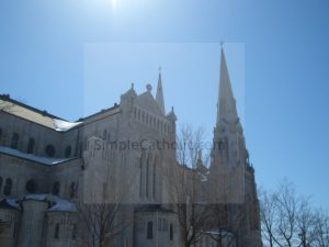 Church Exterior with Steeple - Simple Catholic