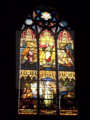 Church Interior – Stained Glass Window - Simple Catholic