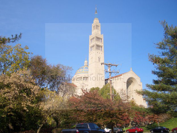 Church exterior – Carillon Tower Shrine of the Immaculate Conception - Simple Catholic