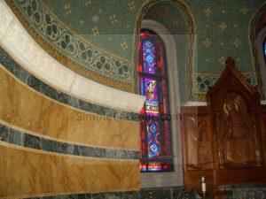 Church interior – side window - Simple Catholic