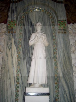 Church interior statue - Simple Catholic