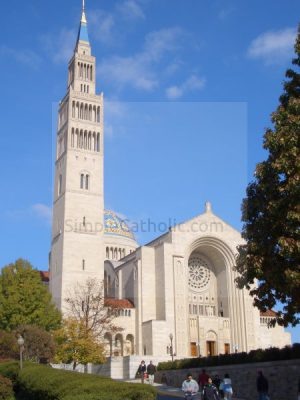 National Shrine of the Immaculate Conception Exterior - Simple Catholic