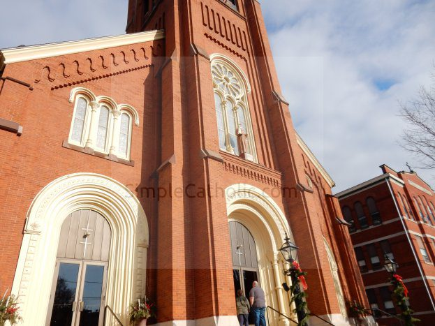 Catholic Church Exterior – Brick Facade - Simple Catholic