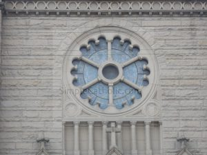 Church Exterior – Stained Glass Window - Simple Catholic
