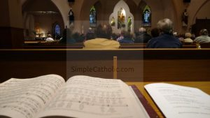 Church Service with Missalette - Simple Catholic