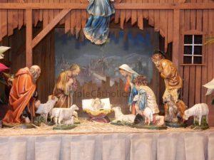 Creche Nativity Scene with Baby Jesus - Simple Catholic