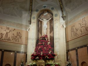 Crucifix and Christmas Decor - Simple Catholic